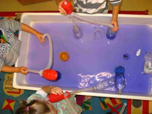 Albany, NY preschool children pumping purple water